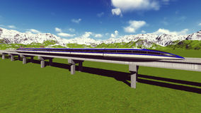 Maglev train Raster 8 Royalty Free Stock Photography