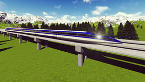 Maglev train Raster 1 Royalty Free Stock Photos
