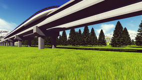 Maglev train Raster 11 Royalty Free Stock Photos