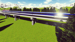 Maglev train Raster 3 Stock Photo
