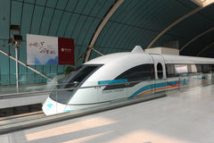 Maglev train starts operation on June 1, 2010 Royalty Free Stock Photos
