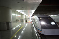 Maglev Train Station in Shanghai Royalty Free Stock Photo