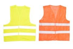 Maglia arancio di sicurezza fotografia stock libera da diritti
