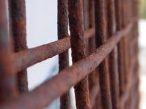 Maglia arrugginita del nastro metallico Fotografie Stock