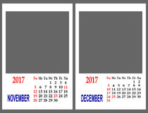 Maglia del calendario fotografia stock