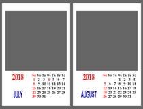 Maglia del calendario immagini stock libere da diritti