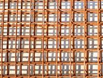 Maglia del filo di acciaio al cantiere fotografia stock