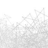 Maglia della rete di scienza astratta del plesso fotografie stock libere da diritti
