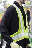 maglia di sicurezza con nastro adesivo riflettente Fotografia Stock Libera da Diritti