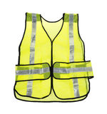 Maglia gialla fluorescente di sicurezza Immagini Stock Libere da Diritti