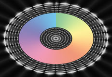 Maglia ovale del Rainbow Fotografia Stock Libera da Diritti