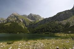 Maglic mountain and Trnovacko lake Royalty Free Stock Photos