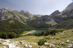 Maglic mountain and Trnovacko lake Royalty Free Stock Images
