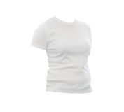 Maglietta bianca in bianco Immagini Stock Libere da Diritti