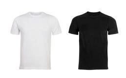Maglietta in bianco e nero dell'uomo Fotografie Stock