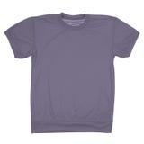 Maglietta in bianco grigia (percorso di ritaglio) Fotografia Stock