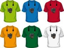 Maglietta con la macchina fotografica Fotografie Stock Libere da Diritti