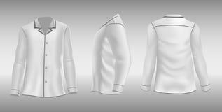 Maglietta con le maniche ed il collare Fotografia Stock Libera da Diritti