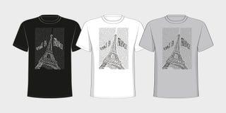 Maglietta con un'immagine della torre Eiffel da Fotografia Stock Libera da Diritti