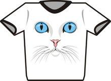 Maglietta del gatto Fotografie Stock