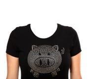 Maglietta del maiale fotografie stock