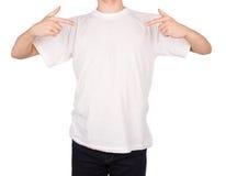 Maglietta dell'uomo Fotografia Stock Libera da Diritti