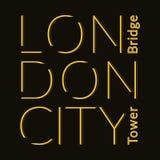 Maglietta della città di Londra Immagini Stock Libere da Diritti