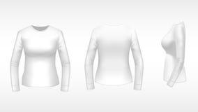 Maglietta delle signore con le maniche lunghe Immagine Stock