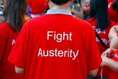 Maglietta di austerità di lotta immagine stock