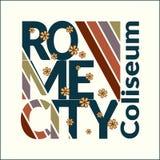 Maglietta di Roma per la donna Fotografie Stock Libere da Diritti