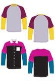 Maglietta e manicotto lungo di modello di polo. Immagine Stock