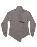 Maglietta felpata grigia con lo zip Fotografie Stock