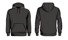 Maglietta felpata nera del modello immagine stock