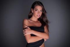 Maglietta nera Fotografia Stock