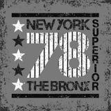 Maglietta New York, sport della maglietta, progettazione di sport, modo di New York illustrazione di stock