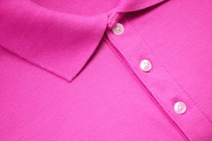 Maglietta rosa di polo fotografia stock