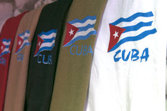 Magliette cubane in Guardalavaca Cuba Immagini Stock Libere da Diritti