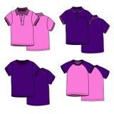 Magliette del puple e di rosa Immagine Stock Libera da Diritti
