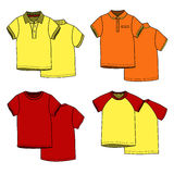 Magliette di colore Immagine Stock Libera da Diritti