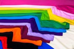 magliette fatte da cotone e da fibra Fotografie Stock