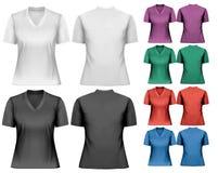 Magliette femminili Modello di disegno illustrazione di stock
