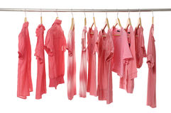 Magliette rosse Fotografie Stock
