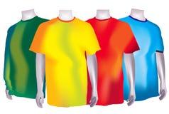 Magliette variopinte Fotografie Stock