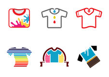 Magliette variopinte creative Logo Design Illustration Fotografia Stock
