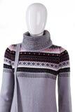 Maglione caldo con il collo alto Fotografia Stock