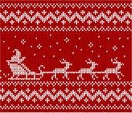 Maglione con Santa ed i suoi deers Fotografia Stock Libera da Diritti