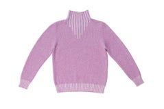 Maglione lavorato a maglia lillà. immagini stock libere da diritti