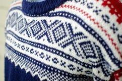 Maglione norvegese tradizionale Fotografie Stock Libere da Diritti