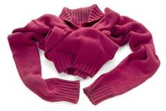 Maglione rosso con una grande gola calda Immagini Stock
