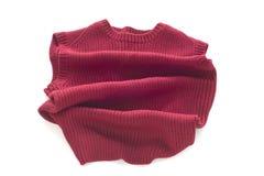 Maglione rosso senza maniche Fotografia Stock